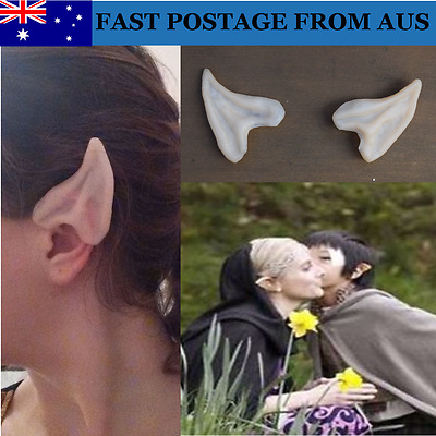 AUS Pointed Elf Ear Tips / Fairy Hobbit Pixie - Cosplay, Halloween Costume Latex