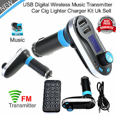Bluetooth Car Kit FM Transmitter Wireless Player MP3 Radio Adapter USB Charger