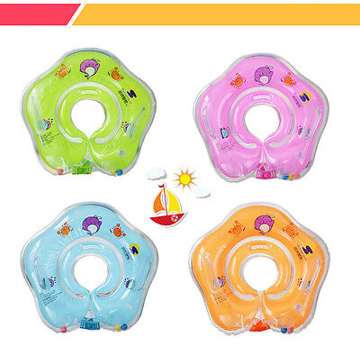 Baby Kids Infant Lifebuoy Swimming Neck Float Inflatable Tube Ring Safety Child