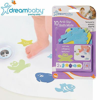 10 Anti Non Slip BATH MAT Baby Child Safety Bathub Bathing Shower Gift Dreambaby