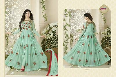.INDIAN ANARKALI SALWAR KAMEEZ SUIT ETHNIC PARTY BOLLYWOOD DESIGNER PAKISTANI t