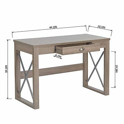 Wooden Worksation Writing Computer Desk Home Side Office Table Storage Drawer