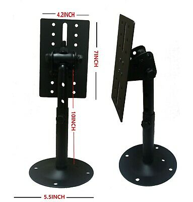 STARAUDIO 2Pcs Universal Adjustable Wall Mount Speaker Bracket Stands with Angle