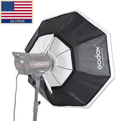 "Godox Octagon Softbox 120cm 47"" Bowens Mount for Studio Strobe Flash Light +Bag"
