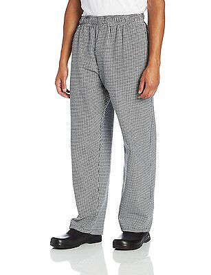 Dickies Mens Traditional Baggy with Zipper Fly Chef Pant, Houndstooth, X-Large