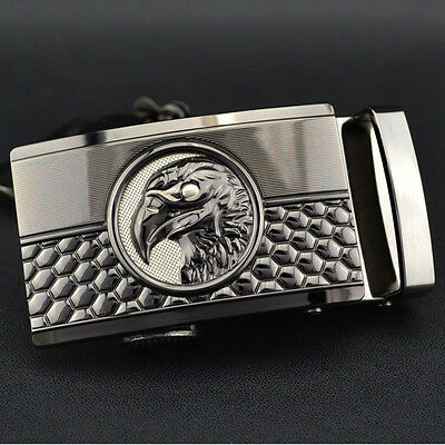 Men Business Casual Style Automatic With Eagle Lock Buckle Ratchet Belt Buckle