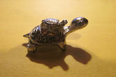 Pewter Mother Turtle With Baby On Back Figurine