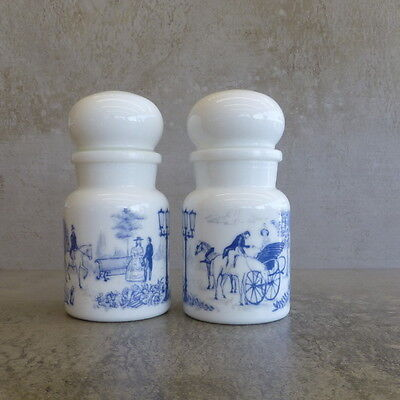 2 Retro Glass Storage Jars Bubble Lids Made in Belgium Apothecary Style 1970s