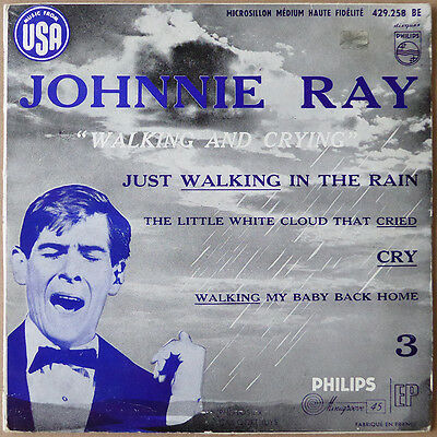 "7"" EP Johnnie Ray - Walking And Crying - Frankreich 1957 - VG+(+) to VG++"