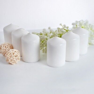 Set of 3 Unscented 7CMx7CM  Pillar Candle Red And White