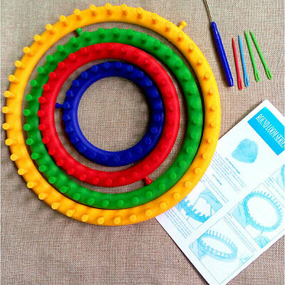 4Pcs/Set DIY Round Circle Hat Knitter Knitting Loom Kit 14cm 19cm 25cm 30cm