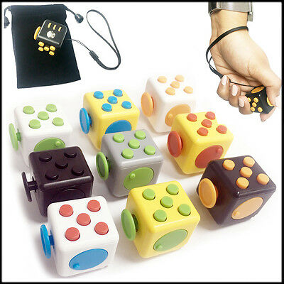 UK Fidget Cube Stress Buster Toy Anxiety ADHD 6 Sides Autism Mind Divert Fiddle