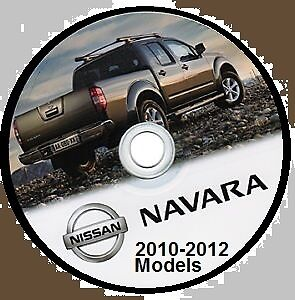 Nissan Navara D40 Series 2010-2012 Australian Workshop Cd  Inc-V9X-Yd25-Vq40