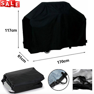 New Grill Barbecue Waterproof Outdoor Black Cover for Large Bbq