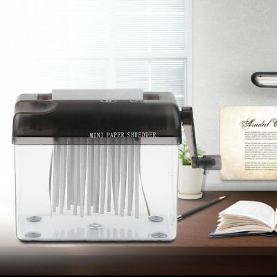 Mini Portable A4 A5 Compact Manual Hand Operated Strip Document Paper Shredder@W