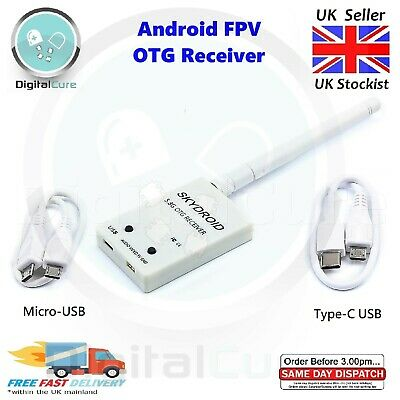 Android FPV 5.8G Receiver UVC Video Downlink OTG USB for Phone Tablet - Drone