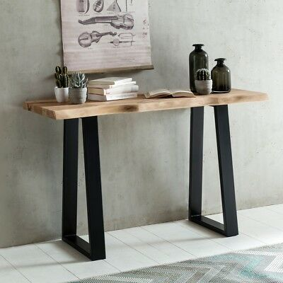 Console table Solid wood tree trunk Console tree edge Console table Industrial
