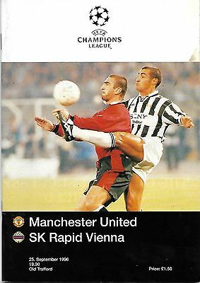MANCHESTER UNITED v RAPID VIENNA Champions League 1996/97