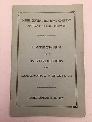 1928 Maine Central Railroad Train Company Catechism Of Instruction Locomotive