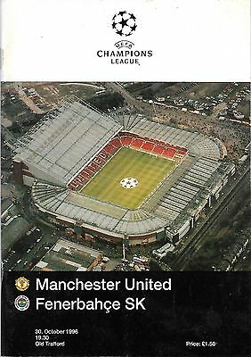MANCHESTER UNITED v FENERBAHCE Champions League 1996/97