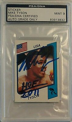 1986 Panini MIKE TYSON PSA DNA 9 Auto  Inscribed Rookie RC Signed Autograph