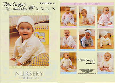 Nursery Collection Baby Knitting Book Peter Gregory Patterns DK & 4 Ply
