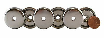 Manic Magnets 75 Lb Pull (6pk),  CounterSunk Hole for #10 Bolt Size, Rare Earth