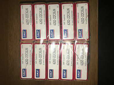 SKF Bearings 6202-2Z/C3GJN-- New Old Stock