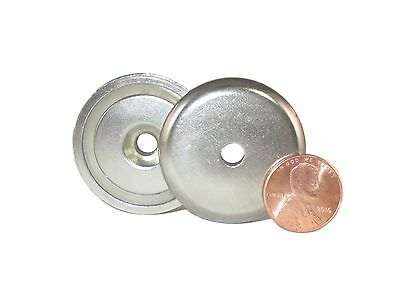 "Manic Magnets 88 Lb.Pull (2Pk) 1.42"" Outside Dia, CounterSunk Hole for #10 Bolt"
