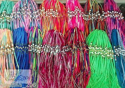 LOT of 100 Ceramic Friendship Bracelets macrame handmade peruvian thread