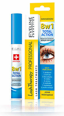 SERUM 8in1 Eyelash Total Action Therapy Mascara Intensive Lash Care 10ml EVELINE