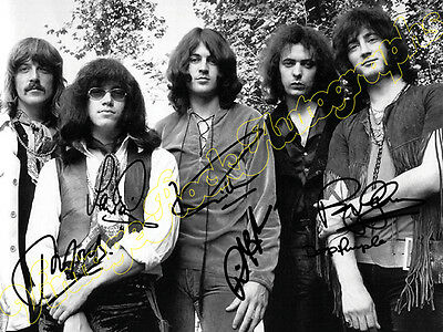 DEEP PURPLE - print signed photo - foto con autografo stampato
