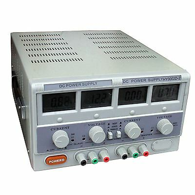 HY3002D-2 Double output Bench power supply, 0-30v, 0-2A