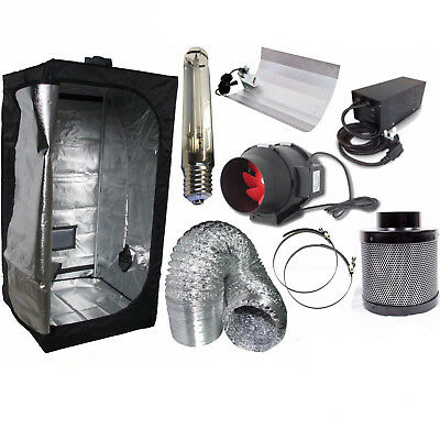 Hydroponics Best Complete Indoor Grow Tent Filter Fan Kit Set 250w 400w 600w UK
