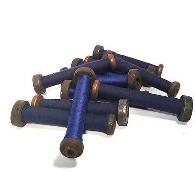 Textile Bobbins Spools Spindles Wooden Threaded Imported 12 Quills fm India