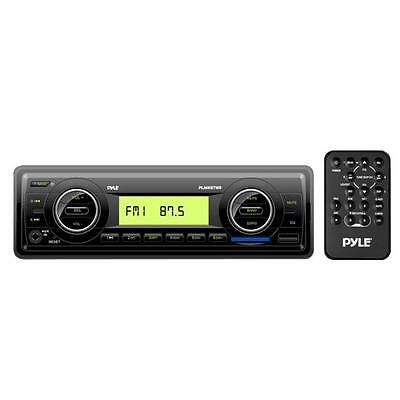 Pyle PLMR87WB Marine Flash Audio Player - 200 W RMS - Single DIN - LCD Display