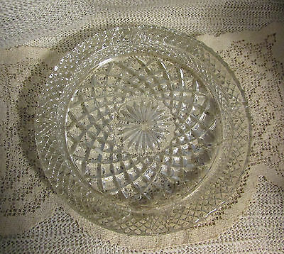 "Anchor Hocking Wexford Glass.. 8.5"" Dia Large Heavy Ash Tray"