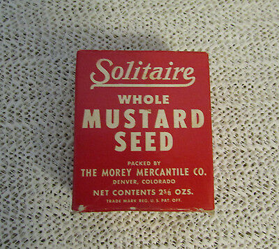 """Antique Vintage 2.5"""" High Solitaire Whole Mustard Seed In Box"""
