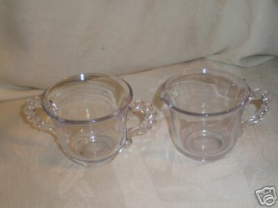 Imperial Candlewick Creamer and Sugar Dish