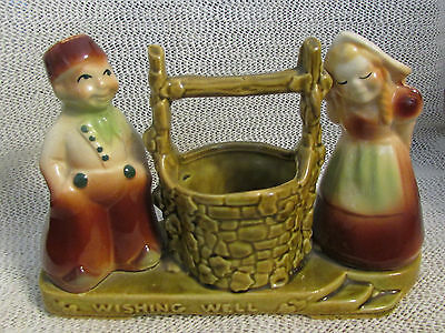 "Vintage Shawnee ..5.5"" High X 8"" Wide.. Boy & Girl At Wishing Well Planter #710"