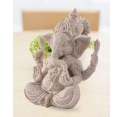 Sand Stone Ganesh Statue Hand Carved Elephant God Wealth Artist Luck Hindu