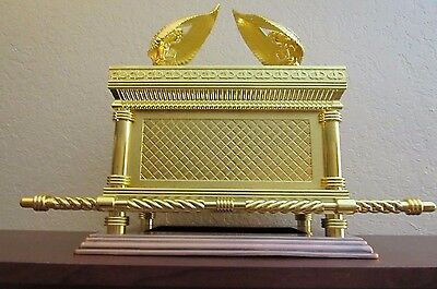 Gold plated copper JUMBO XXL Ark of the covenant Jewish Testimony Judaica Israel