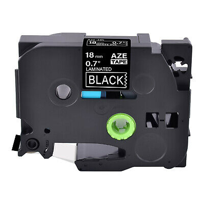 1PK White on Black Label Tape TZ TZe345 18mm For Brother P-touch PT-D400 PT-1890
