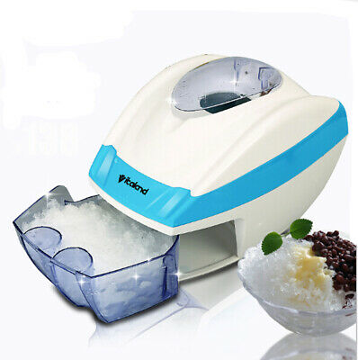 Home Electric Ice Shaver Slicer Crusher Machine Cube to Flake Shaved Snow