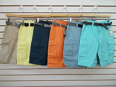 Boys Calvin Klein Jeans $39 Assorted Colors Cargo Shorts Size 12 - 20