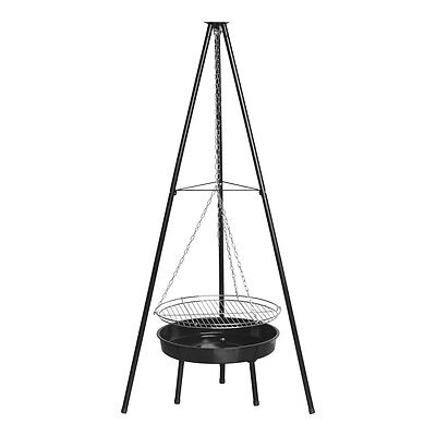 """Benross 20"""" Outdoor Garden Patio Tripod BBQ Barbeque Grill and Firepit - Black"""