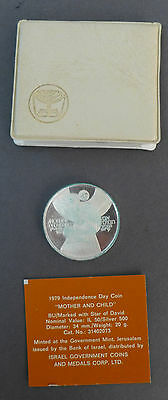 "Israel 1979 50 Lirot Silver ""Mother and Child"" Silver Coin w/ case & COA"