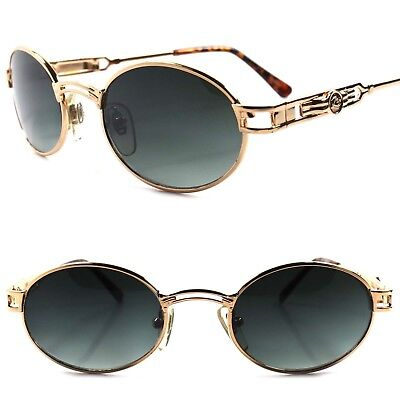 Old stock True Vintage 50s 60s Urban Hip Hop Swag Fashion Gold Oval Sunglasses
