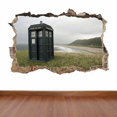 Doctor Who Tardis hole in the wall full colour feature sticker decal kids