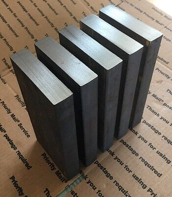"""Steel Bar Plate 1"""" THICK X 4"""" X 8"""" THICK Bar Plate Blacksmith Bench Hammer Plate"""